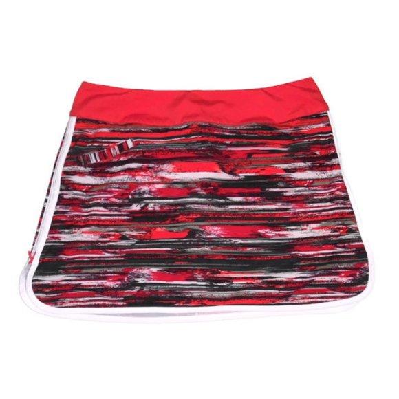 Athleta Whatever Skort Skirt Red Space Dye